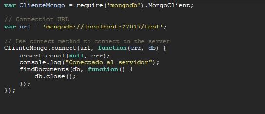 codigo cliente mongo